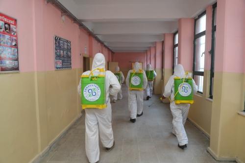 LGS Öncesi Okulları Dezenfekte Ettik