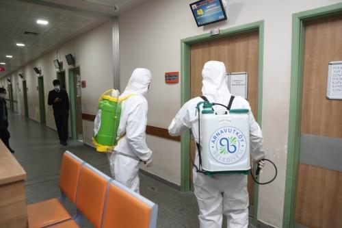 Arnavutköy Devlet Hastanesi Dezenfekte Çalışmalarımız
