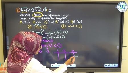 Denklem ve Eşitsizlikler - Soru Çözümü Ders-2