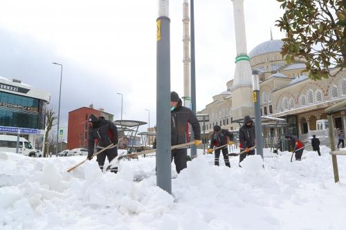 Yoğun Kar Yağışında Kış Çalışmalarımız